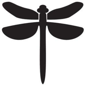 Dragonfly silhouette.