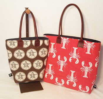 Ruby and Maine Tote bags, available in all nautical fabrics.