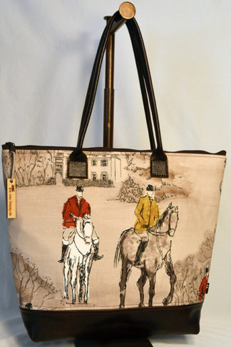 Equestrian tote bag by Tori Anna Designs.