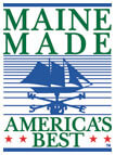 Maine Made logo.  All Tori Anna Designs are made in Maine.