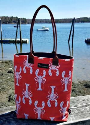 Nautical bags by Tori Anna Designs.
