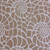 Fabric is a tan background with a white nautical pattern.