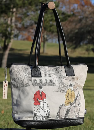 Custom equestrian Bags by Tori Anna Designs.