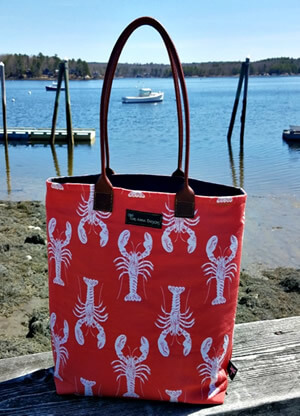 Nautical bags by Tori Anna Designs.